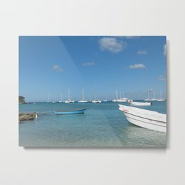 Caribbean port Metal Print