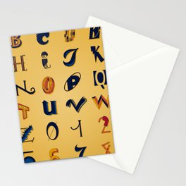 Eclectic Letters #2 Stationery Cards