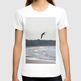 Silhoutted Seagull with Breakfast T-shirt