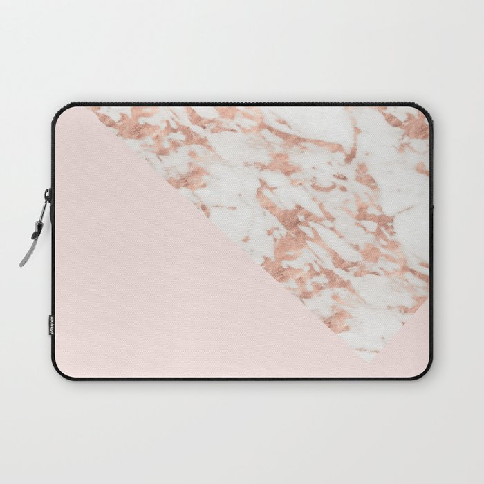 Rose Gold Blush Aesthetic Laptop Sleeve By Marbleco Society6