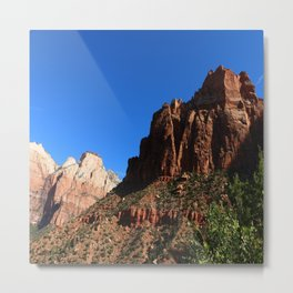 Colorful Moutains Of The Zion Park Metal Print