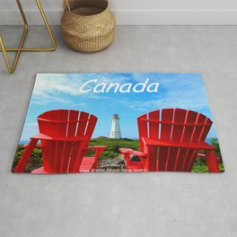 Chairs and Lighthouse, Canada Rug