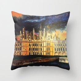 Chambord Chateau – Romantic France Throw Pillow