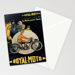 Affiche classic la royal moto a ouvert lere de la moto pour tous poster Stationery Cards
