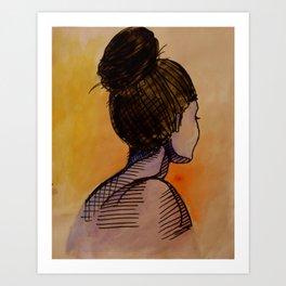 turning away no. 1 Art Print