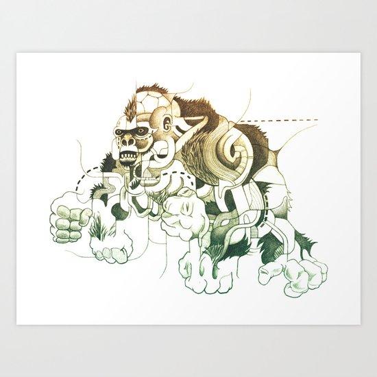 Gorilla gorilla gorilla! Art Print