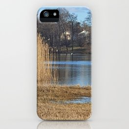 Tall Grass Around The Lake iPhone Case