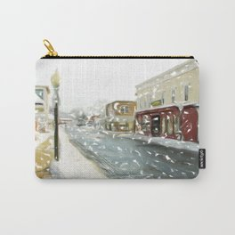 Snowy Day on Mainstreet1 Carry-All Pouch