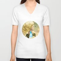 aurora V-neck T-shirts featuring Aurora by Diogo Verissimo