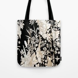 Black and White Flowers by Lika Ramati Tote Bag