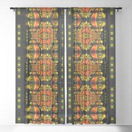 Native American Indian Tribal Mosaic Rustic Cabin Pattern Sheer Curtain