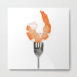 Delicious Shrimp Metal Print