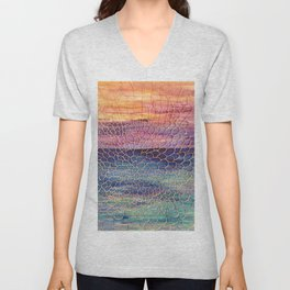 Looking through Lace Unisex V-Neck