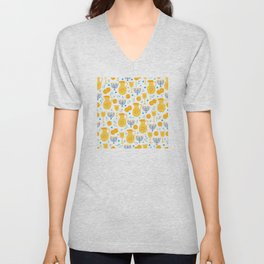 Hanukkah Traditions Pattern Unisex V-Neck
