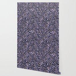 Zebra fur texture print II Wallpaper