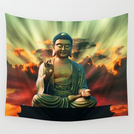 Buddha Sunrise Spiritual Zen Meditation Yoga Mantra Indian Wall Tapestry