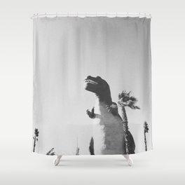 DINO / Cabazon Dinosaurs, California Shower Curtain