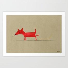 Red Dog3 Art Print