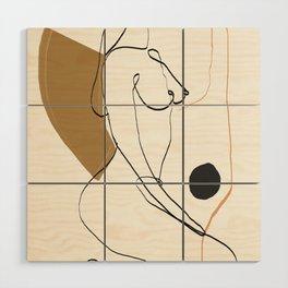 abstract nude 3 Wood Wall Art