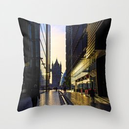 Sunrise on the South Bank Throw Pillow