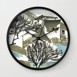 Village father Wall Clock