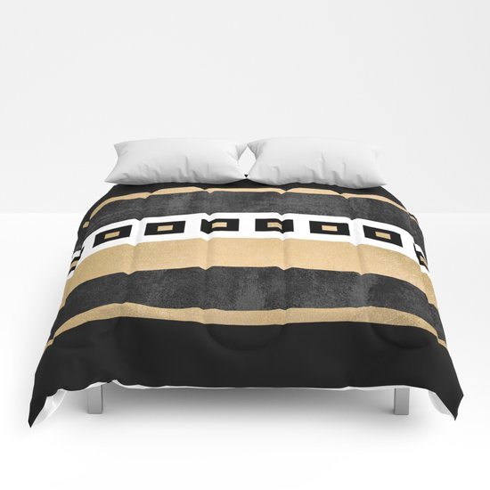 Treasure / Black & Gold Comforters