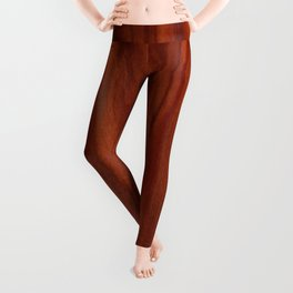 Beautiful red wood design Leggings