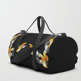 A decorative Celtic fractal flower in metallic colors Duffle Bag