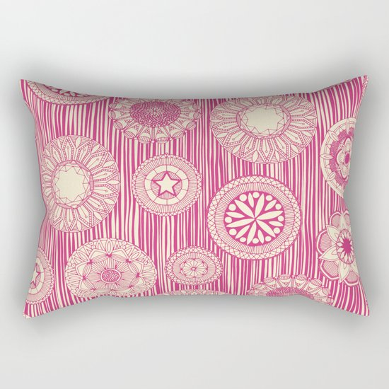 mandala cirque spot pink cream Rectangular Pillow