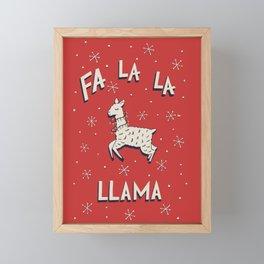 Fa La La Llama Framed Mini Art Print