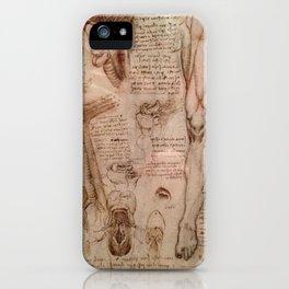Anatomical Sketches - Leonardo Da Vinci iPhone Case