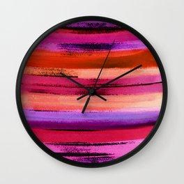 Watercolour Streak Wall Clock