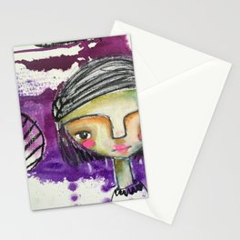Girl in Purple Stationery Cards