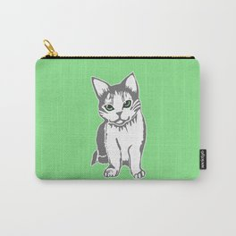 Grey and White Cat with Jade Eyes Carry-All Pouch