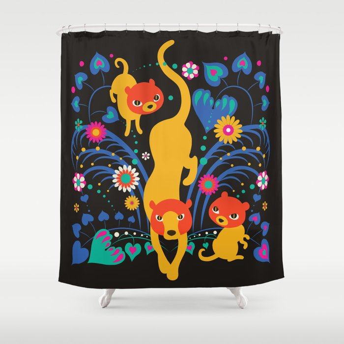 Big CAT Mama Shower Curtain