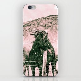 Southwest Horses Black and White iPhone Skin