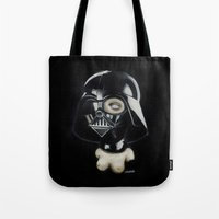 boob Tote Bags featuring Boob Vader by Nataliette
