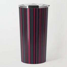 Pink Grey Candy Lines Travel Mug