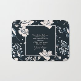 When the day shall come that we do part... Jamie Fraser Bath Mat