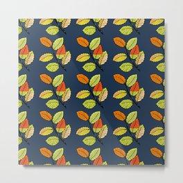 seamless leaf pattern Metal Print