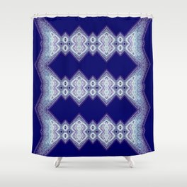 Blue-purple pattern Shower Curtain