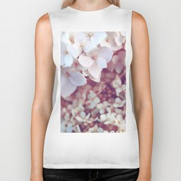 Pink and White Flowers (Color) Biker Tank