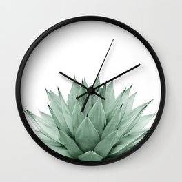 Agave Green Summer Vibes #1 #tropical #decor #art #society6 Wall Clock