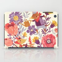 school iPad Cases featuring The Garden Crew by Teagan White