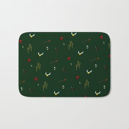 Quidditch Pattern - Slytherin Bath Mat