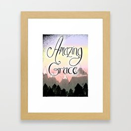 Amazing Grace Framed Art Print