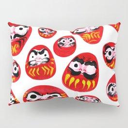 Japanese Daruma Characters Pillow Sham