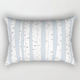 Aspen Forest - Blue Grey Rectangular Pillow