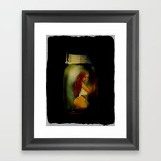 Lost Without You  (Lady In A Jar) Grunge  Framed Art Print