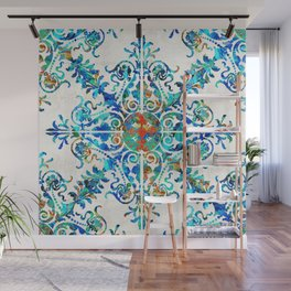 Colorful Pattern Art - Color Fusion Design 6 By Sharon Cummings Wall Mural